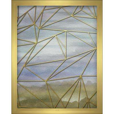 Fractal Watercolor -Blue 8 in. x 10 in. Shadowbox Wall Art