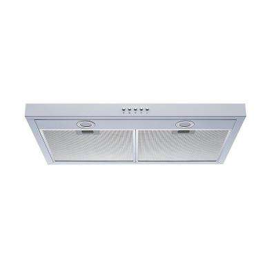 30 in. Under Cabinet Range Hood in White Steel with Aluminum Filters, LED Lights and Push Button Control