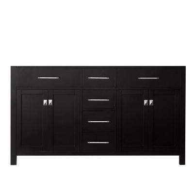Caroline 60 in. W Bath Vanity Cabinet Only in Espresso