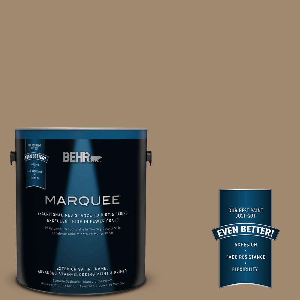 BEHR MARQUEE 1-gal. #PMD-102 River Mud Satin Enamel Exterior Paint