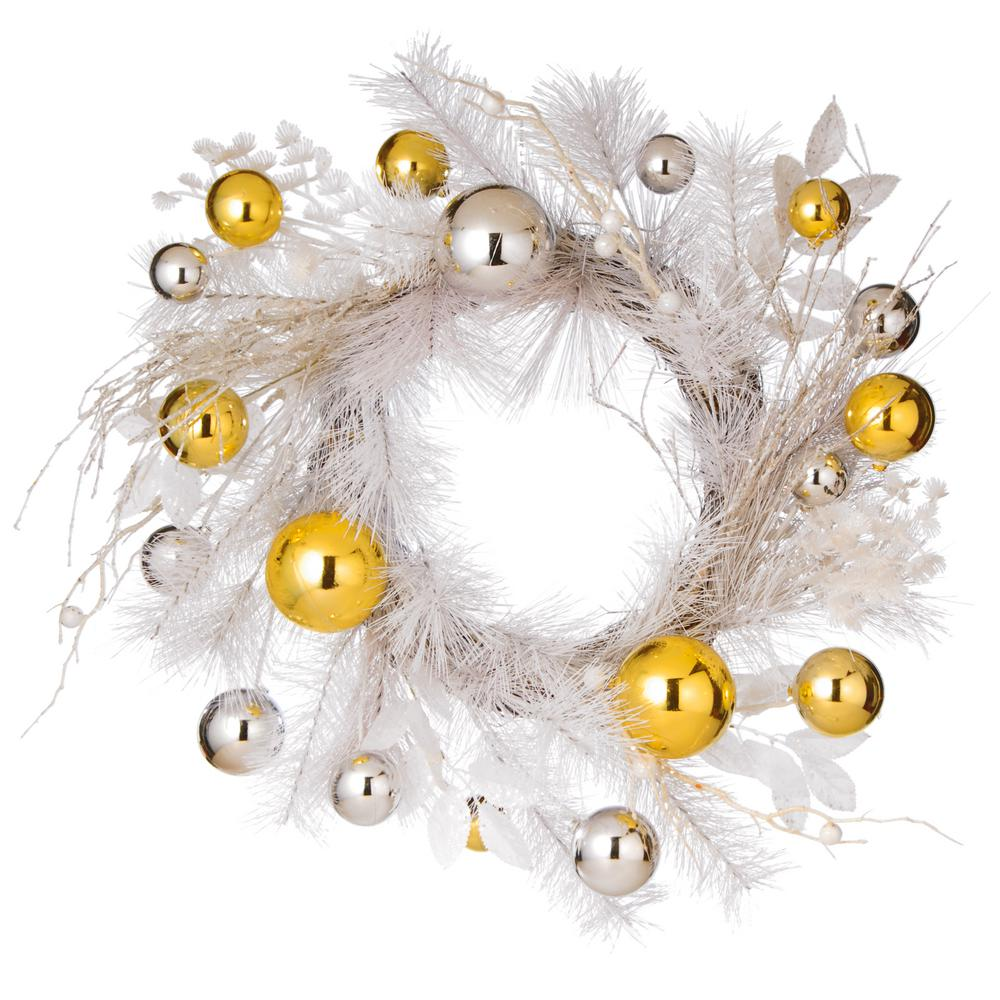 22 in. Ornament Artificial Wreath