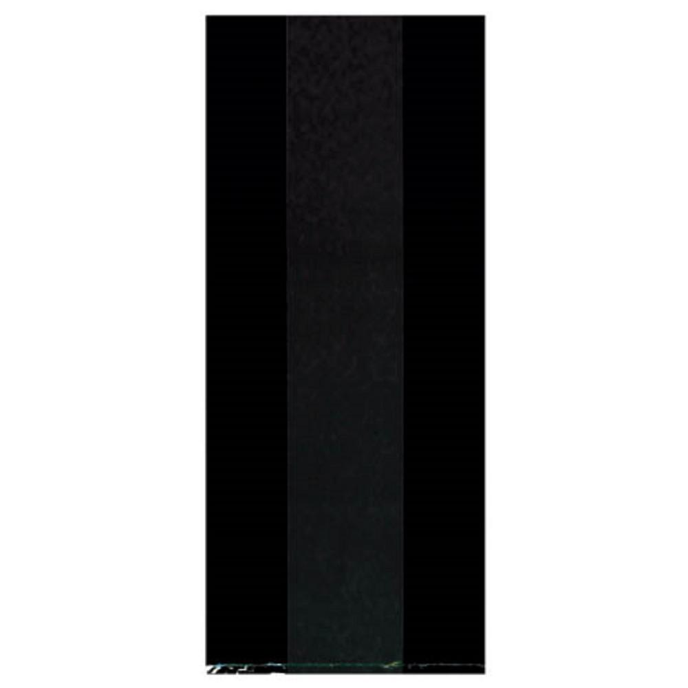 AMSCAN 9.5 in. x 4 in. Black Cellophane Party Bags (25-Co...