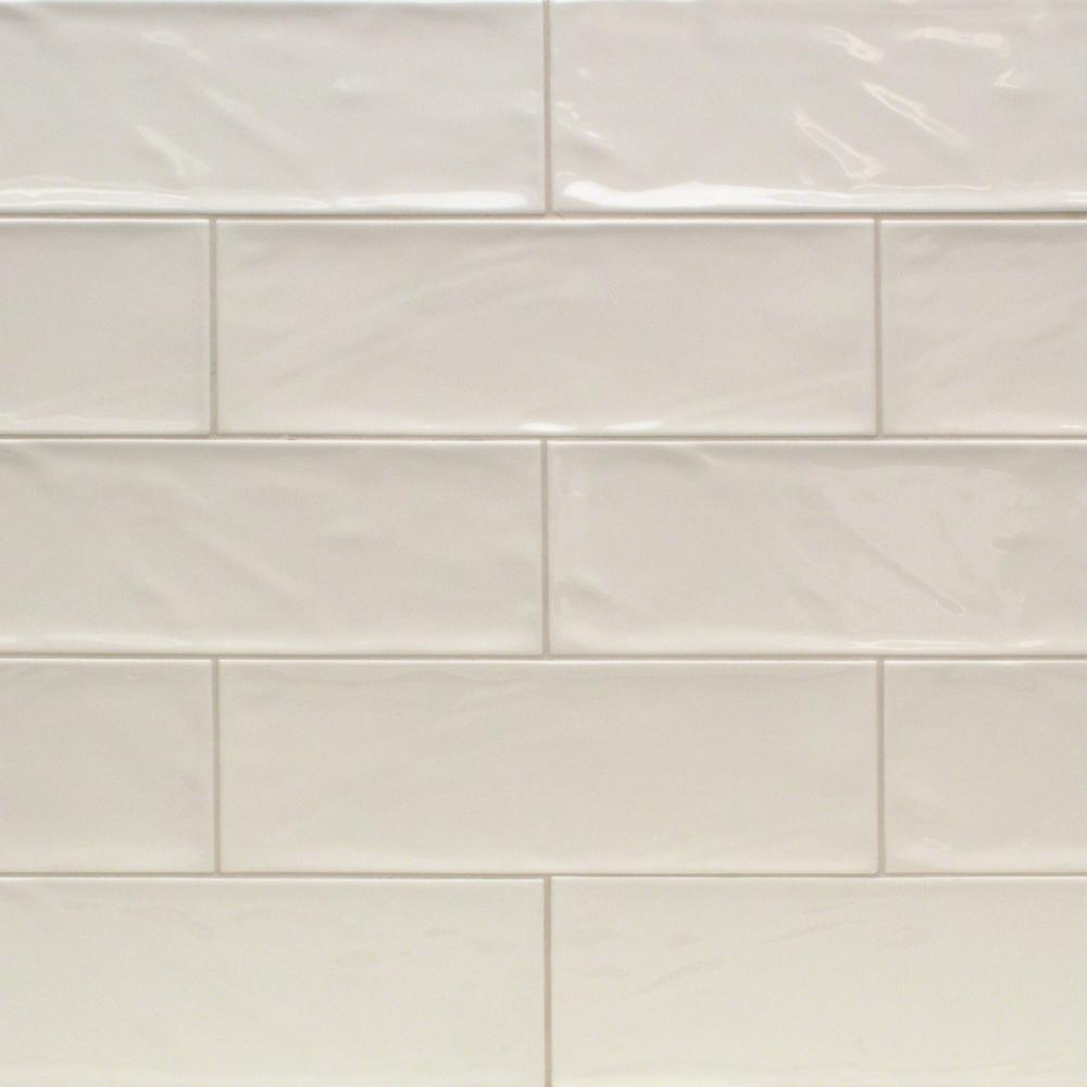 Ivy Hill Tile Pier Ivory 4 In X 12 6 Mm Polished Ceramic Subway Wall 33 Piece 10 76 Sq Ft Box