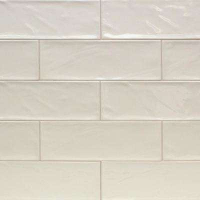 Pier Ivory 4 in. x 12 in. 6 mm Polished Ceramic Subway Wall Tile (33 piece 10.76 sq. ft. / Box)