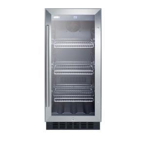 Summit Appliance 15 In. 2.45 Cu. Ft. Mini Refrigerator With Glass Door In  Black SCR1536BG   The Home Depot