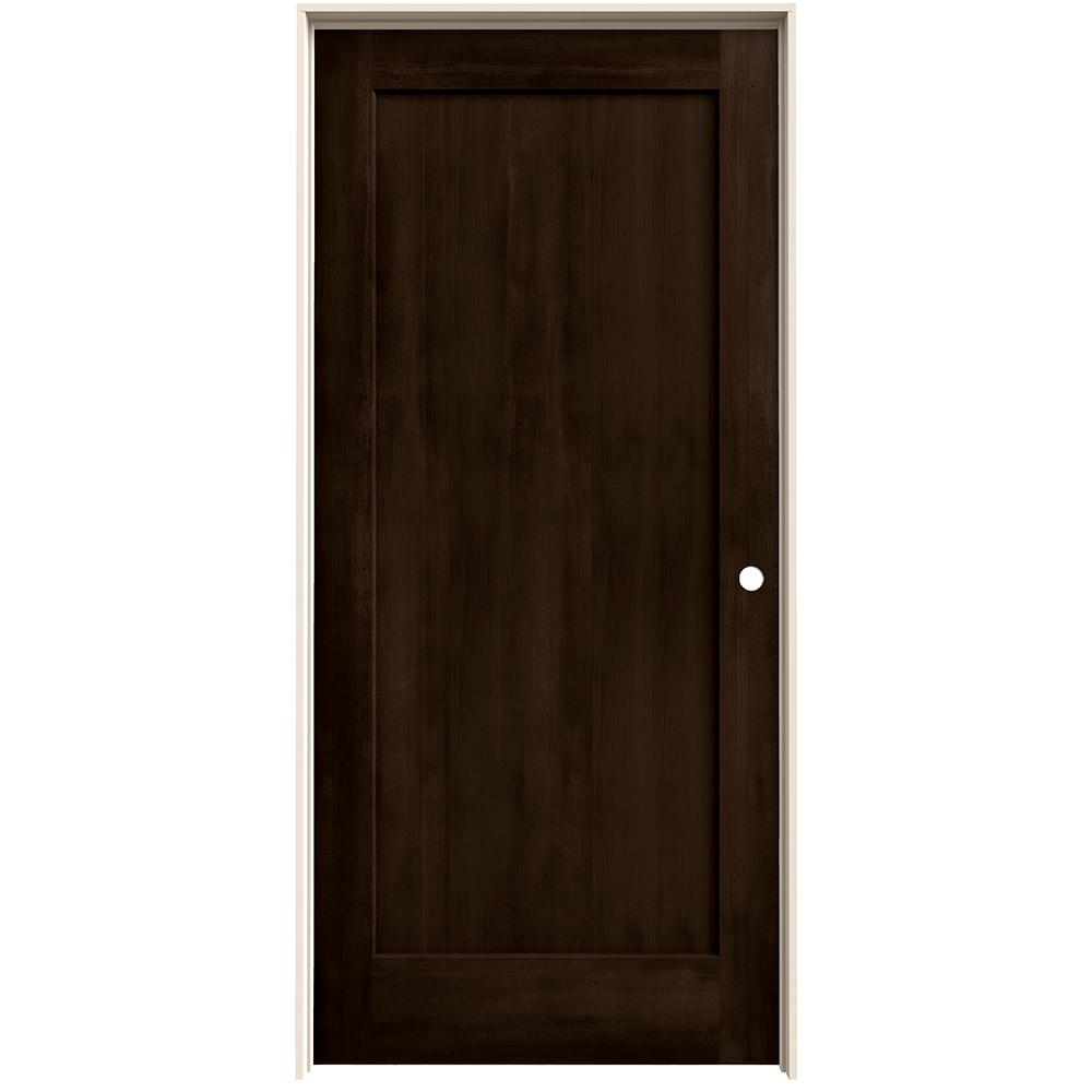 Jeld Wen 36 In X 80 In Madison Espresso Stain Left Hand Solid Core Molded Composite Mdf Single