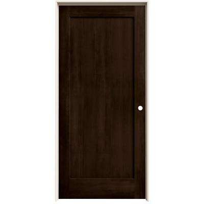 36 in. x 80 in. Madison Espresso Stain Left-Hand Solid Core Molded Composite MDF Single Prehung Interior Door