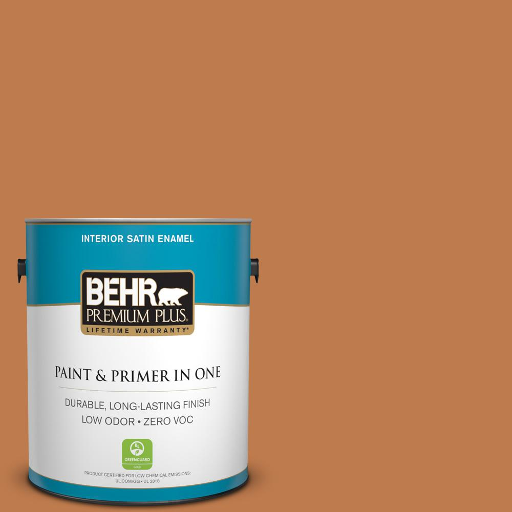 1-gal. #260D-6 Chai Spice Zero VOC Satin Enamel Interior Paint