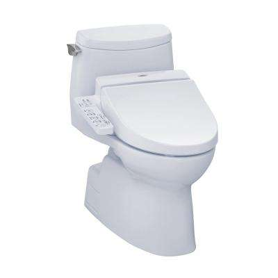 Carlyle II Connect+ 1-Piece 1.0 GPF Elongated Toilet with Washlet C100 Bidet Seat and CeFiOntect in Cotton White