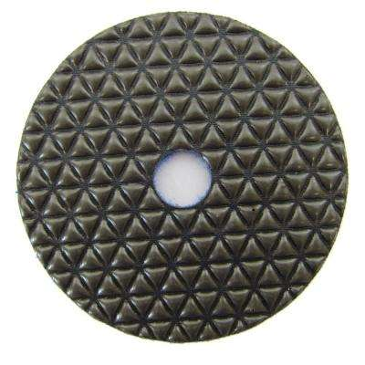 4 in. #400 Grit Dry Diamond Polishing Pad for Stone