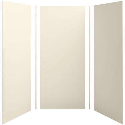 Choreograph 42in. X 42 in. x 96 in. 5-Piece Shower Wall Surround in Almond for 96 in. Showers