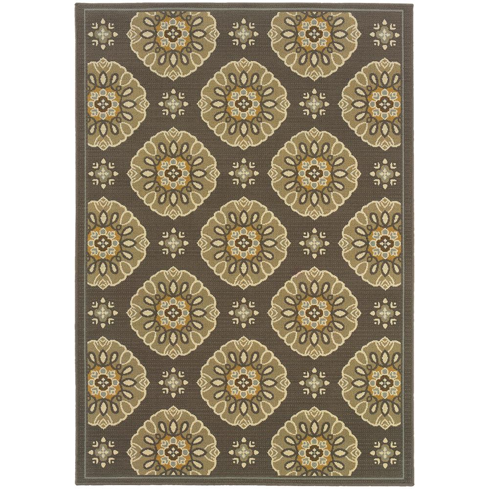 Home Decorators Collection Elsie Grey 3 Ft 9 In X 5 Ft 5 In Indoor Outdoor Area Rug