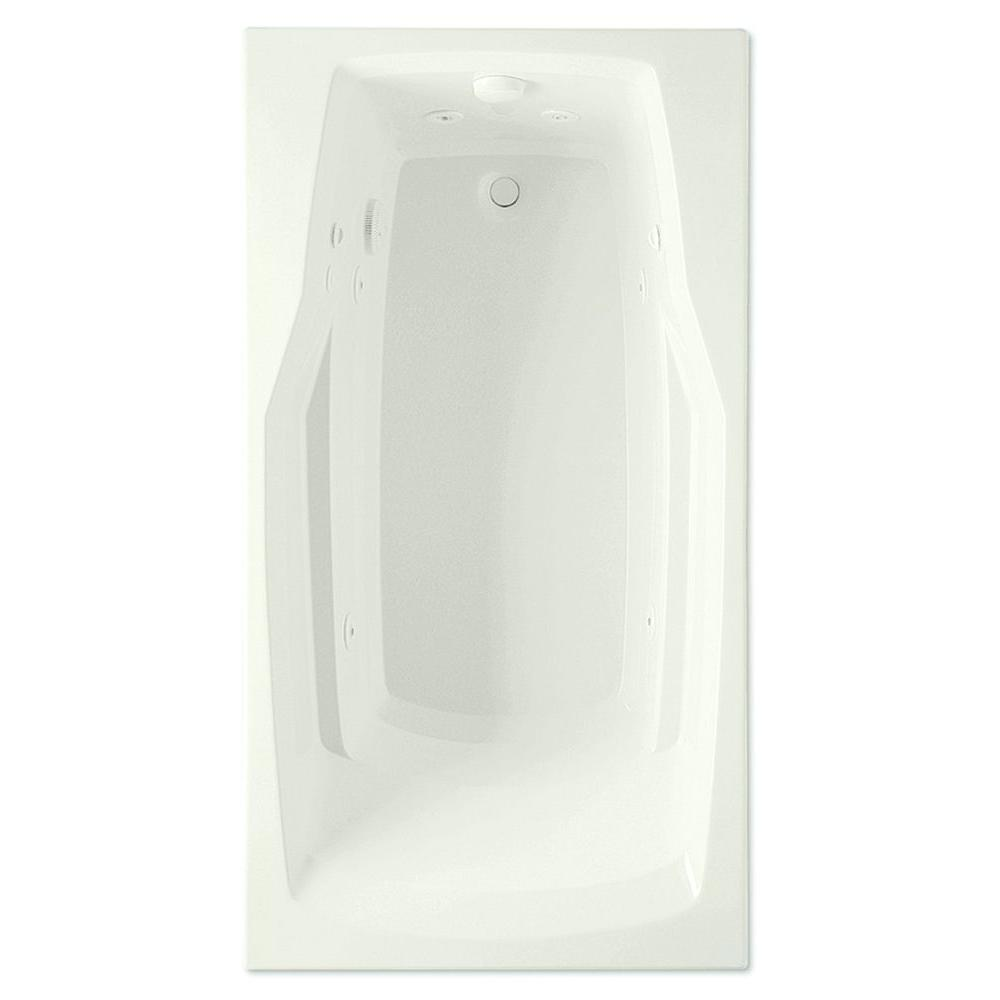 Derby 5 ft. Reversible Drain Acrylic Whirlpool Bath Tub in Biscuit