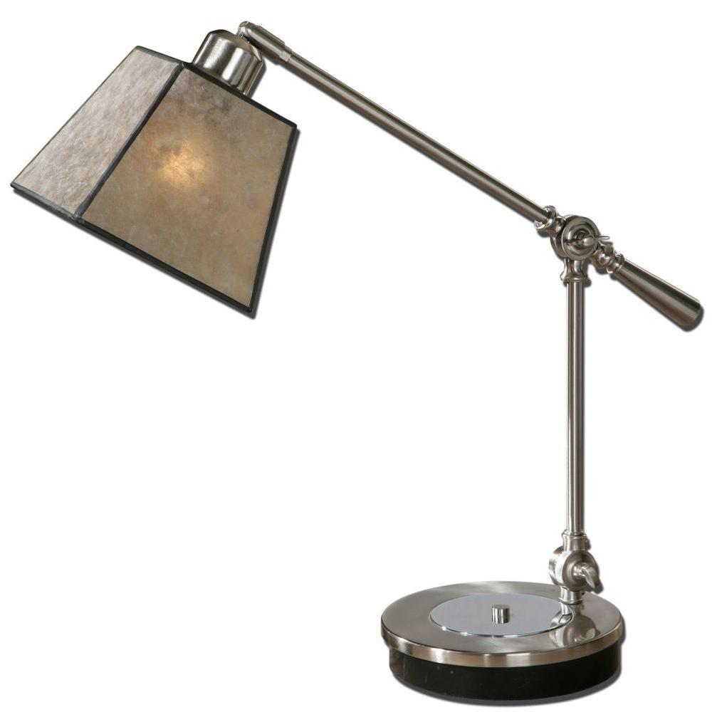 Global Direct 21 in. Chrome Desk Lamp with Swivel Arm-DISCONTINUED