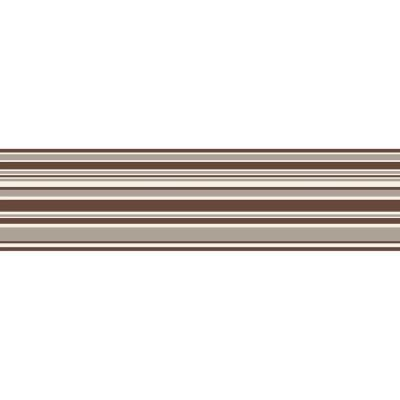 Stripe Brown Wallpaper Border