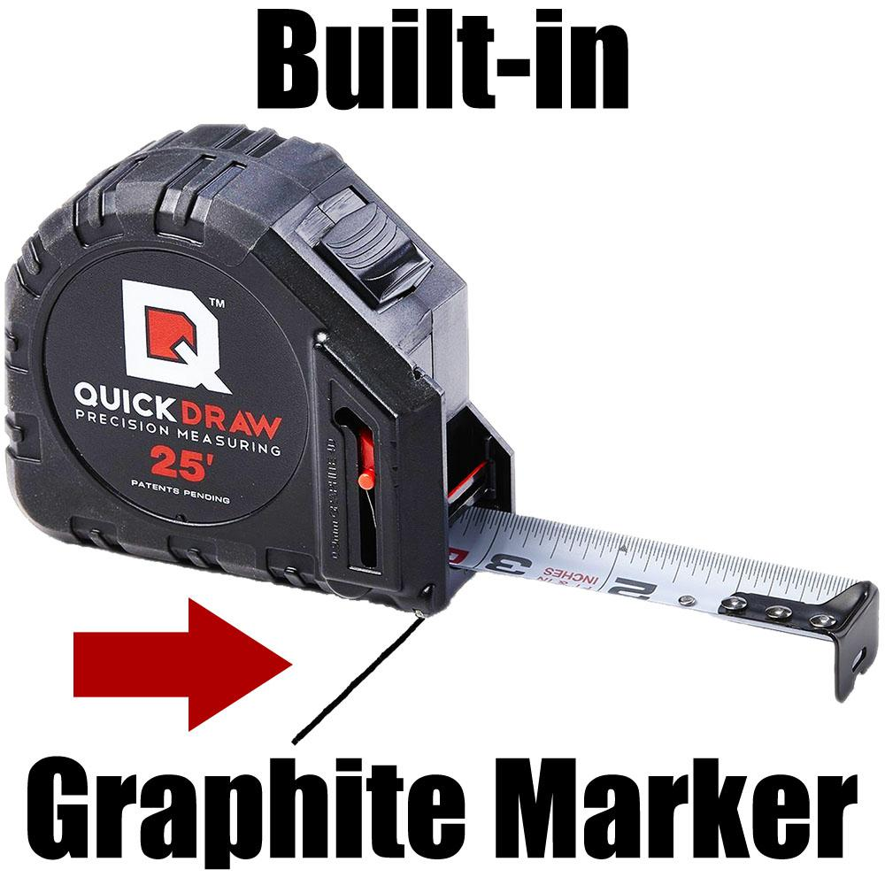 Quickdraw 25 Ft Self Marking Tape Measure Ibqd25f 1 The