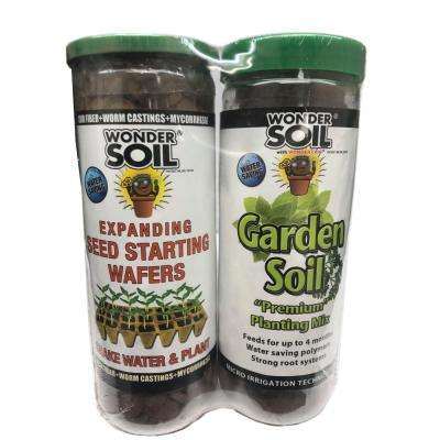 Expanding Coco Coir Seed Starting and Garden Living Soil Wafers Combo Pack