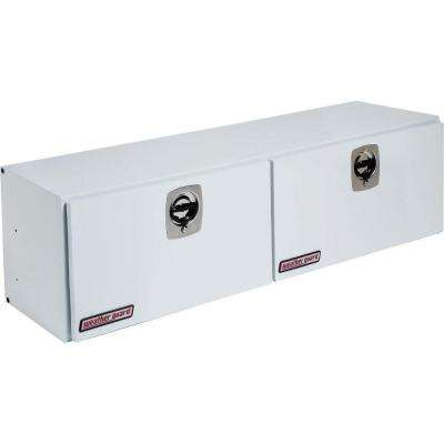 64.25 White Steel Full Size Top Mount Truck Tool Box