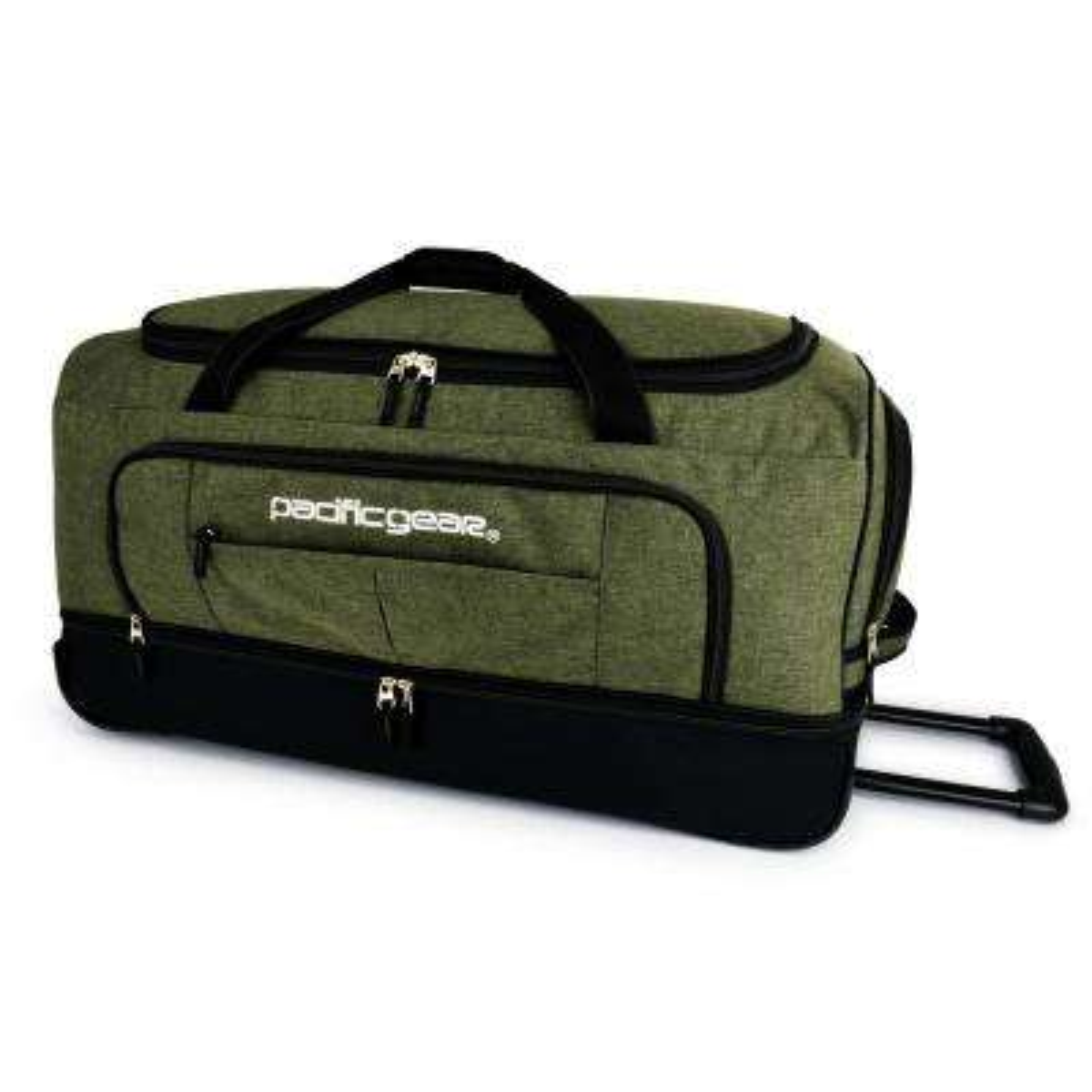 Keystone 30 in. Drop-Bottom Rolling Olive Duffel Bag