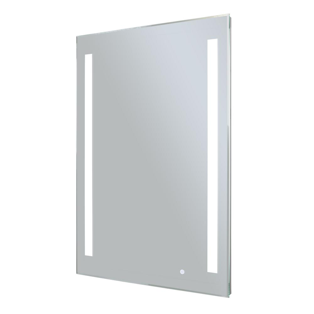 WarmlyYours Rectangle 24 in. x 36 in. LED Backlit Mirror Ingrid