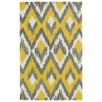 Global Inspiration Yellow 8 ft. x 10 ft. Area Rug