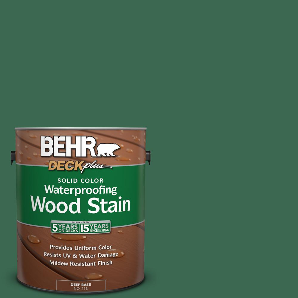 1 gal. #M410-7 Perennial Green Solid Color Waterproofing Wood Stain