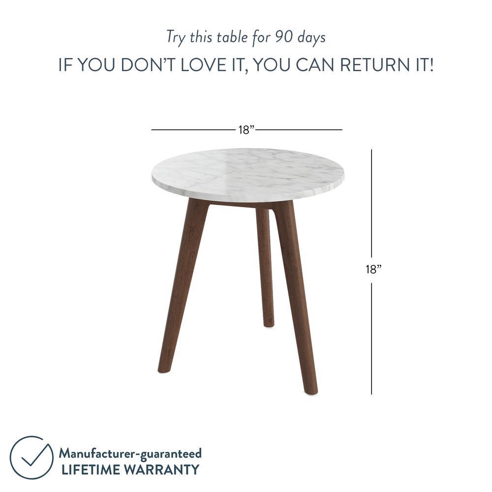 Tremendous Nathan James Amalia White Marble Top With Antique Coffee Inzonedesignstudio Interior Chair Design Inzonedesignstudiocom