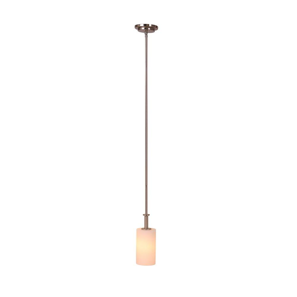 Eastport 1-Light Satin Nickel Mini Pendant