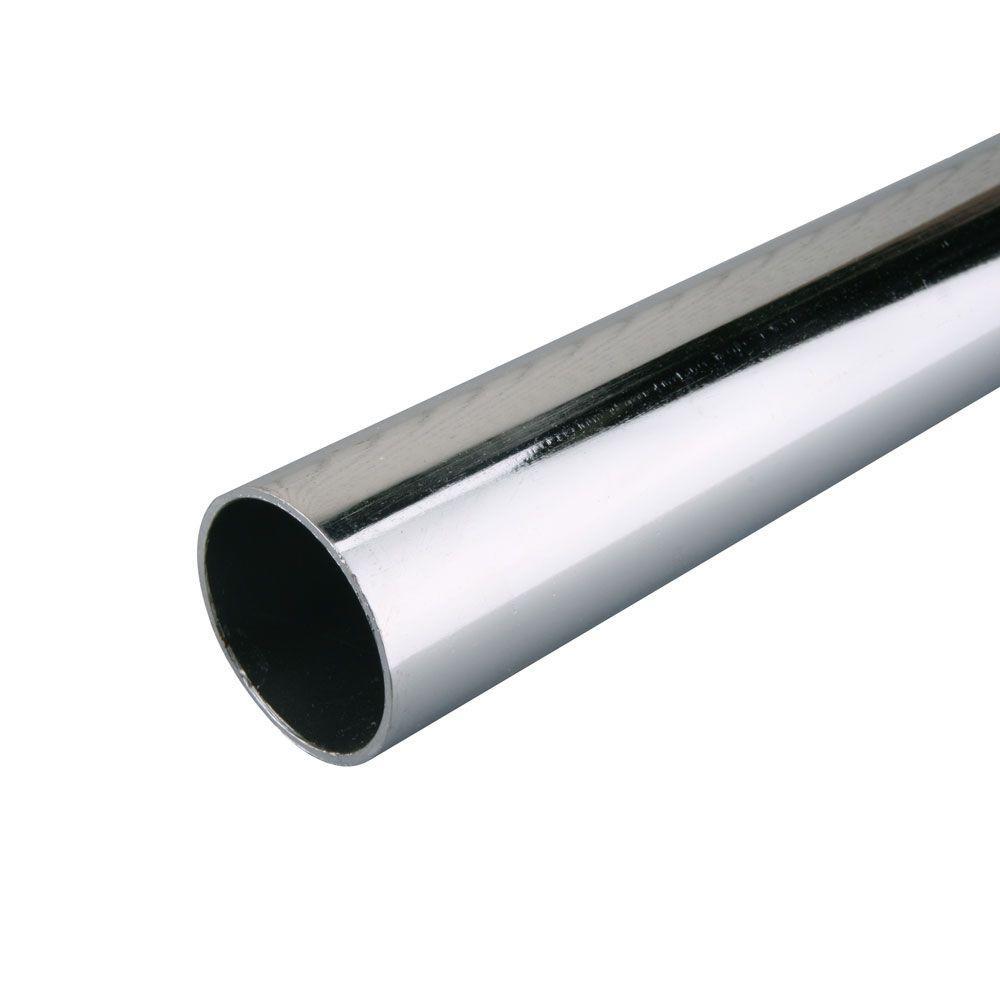 Everbilt 96 in. x 1-5/16 in. Heavy-Duty Chrome Closet Pole