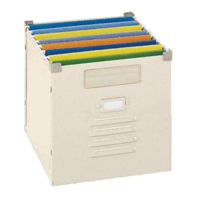 100 lb. 12 in. x 11.5 in. Capacity Putty Steel Portable File Bin