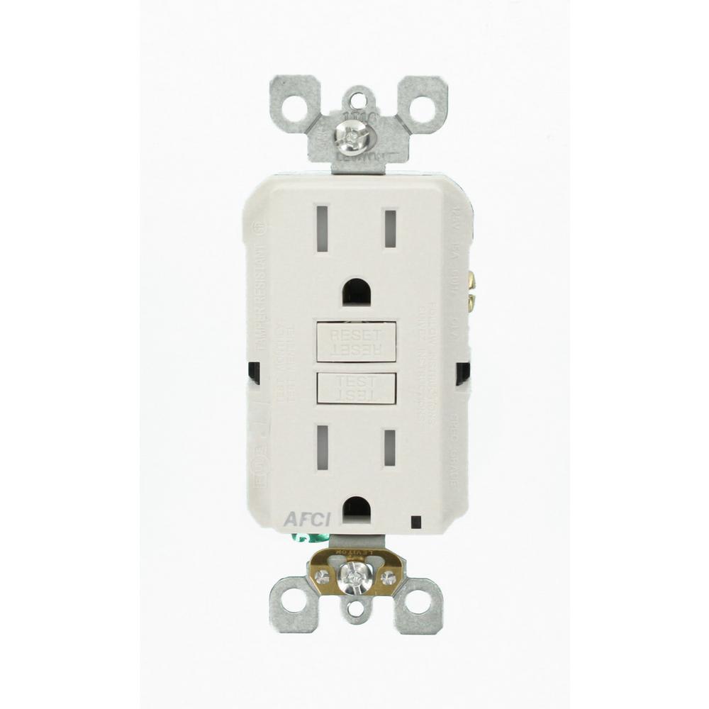 15 Amp Tamper Resistant AFCI Outlet, White (9-Pack)