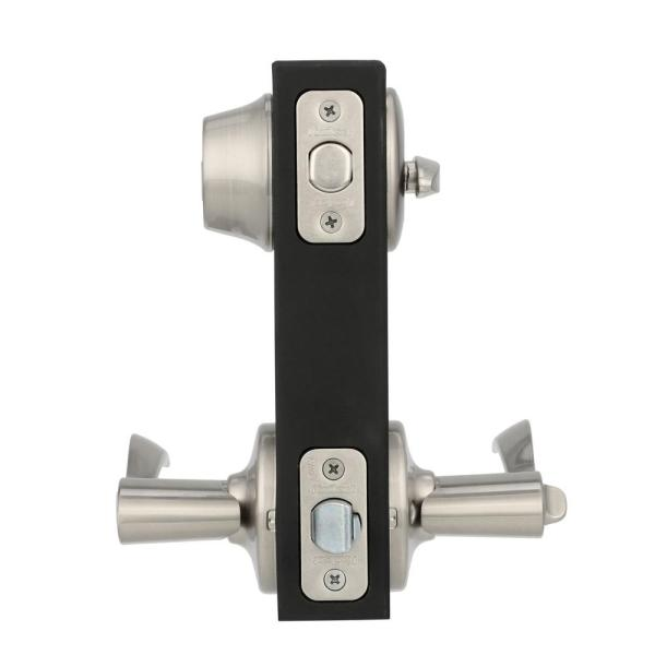 Pack of 2 Satin Nickel Kwikset 690 Balboa Entry Lever and Single Cylinder Deadbolt Combo Pack