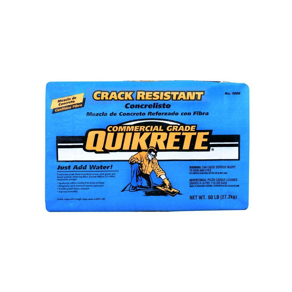 Quikrete 60 lb. Crack-Resistant Concrete Mix