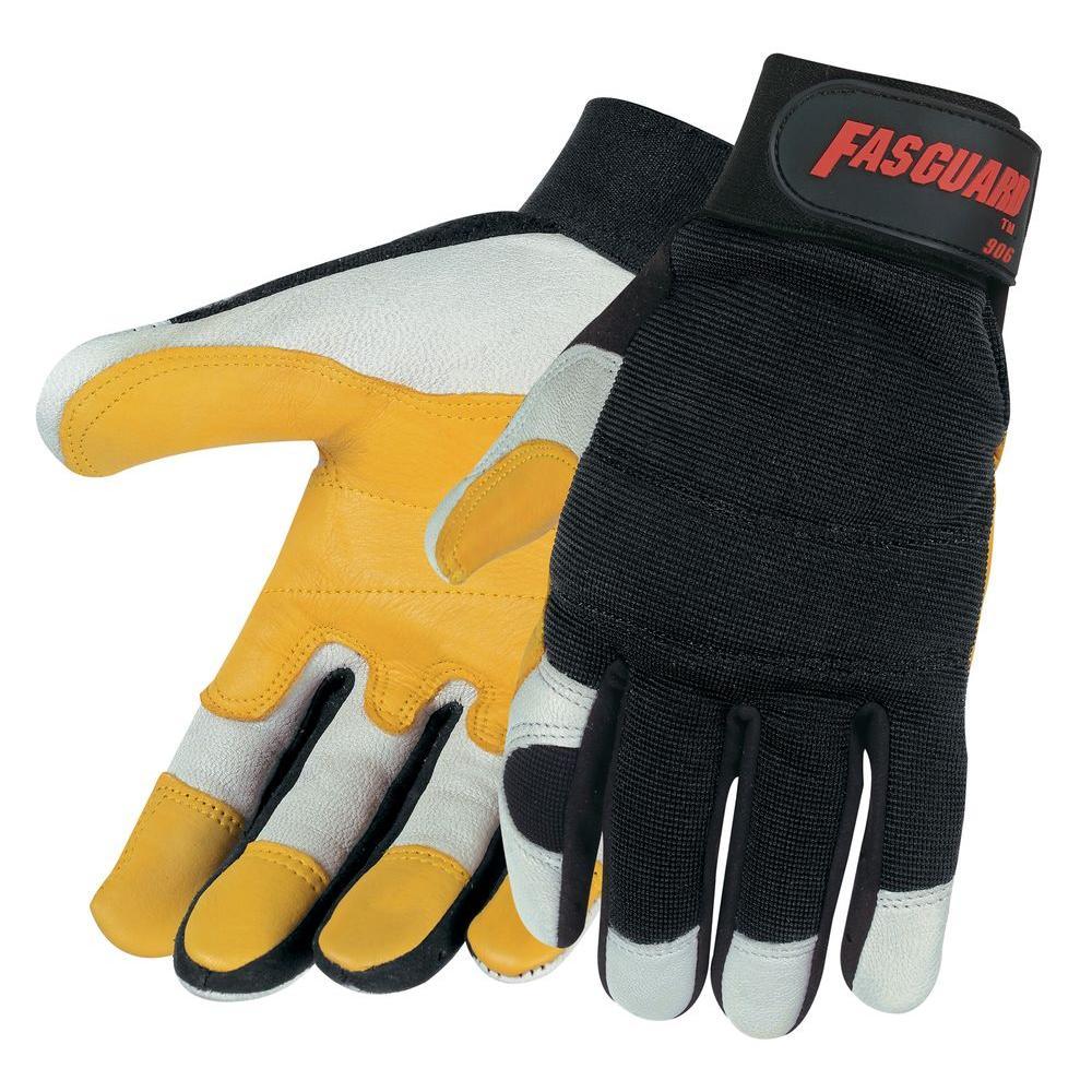 MSA Safety Works Fasguard Goatskin Large Double Palm Multi-Task Gloves