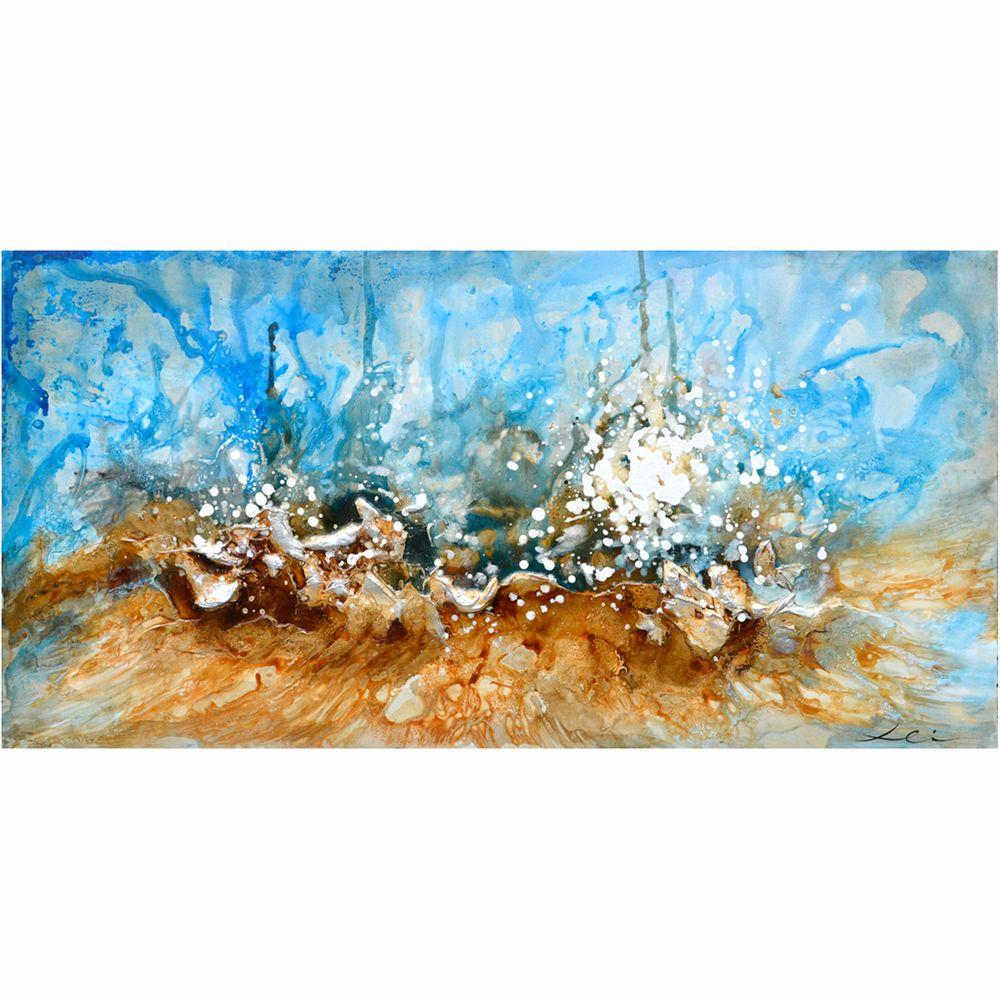 "Yosemite Home Decor 28 in. x 55 in. ""Splash"" Hand Painted Canvas Wall Art"