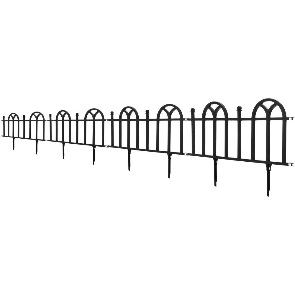 Pure Garden 12.75 In. Victorian Garden Border Fencing Set 82 YJ463   The  Home Depot