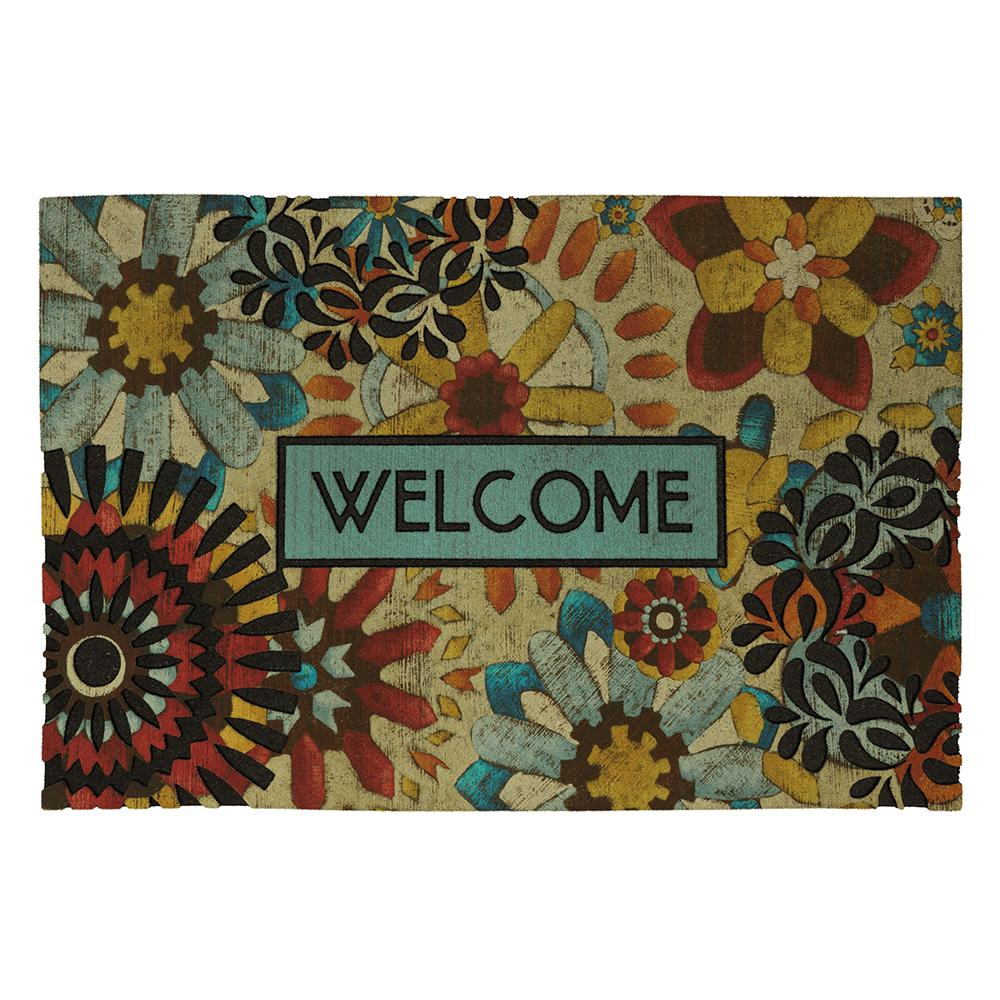 Lace Welcome Rustic Mosaic 23 in. x 35 in. Recycled Rubber Door Mat  sc 1 st  The Home Depot & Mohawk Home - Door Mats - Mats - The Home Depot pezcame.com
