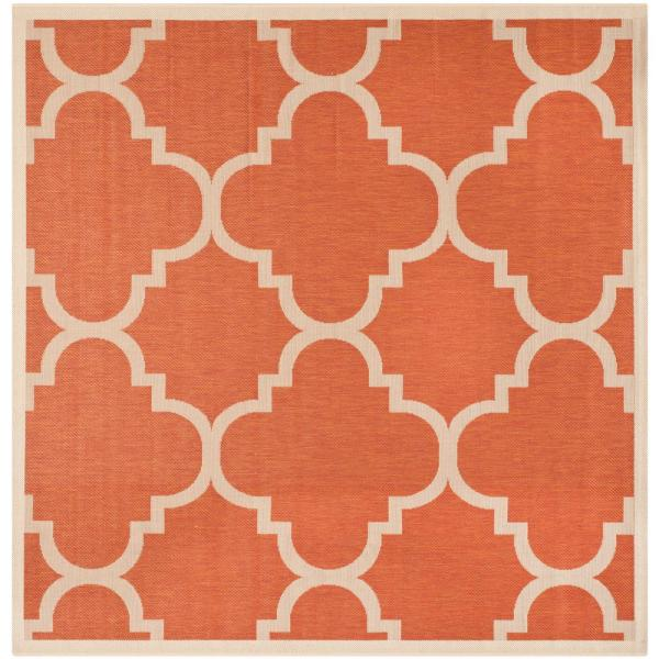 Safavieh Courtyard Terracotta 5 Ft X 5 Ft Indoor Outdoor Square Area Rug Cy6243 241 5sq The Home Depot
