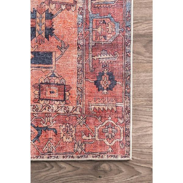 nuLOOM - Quinne Oriental Persian Peach 8 ft. x 10 ft. Area Rug