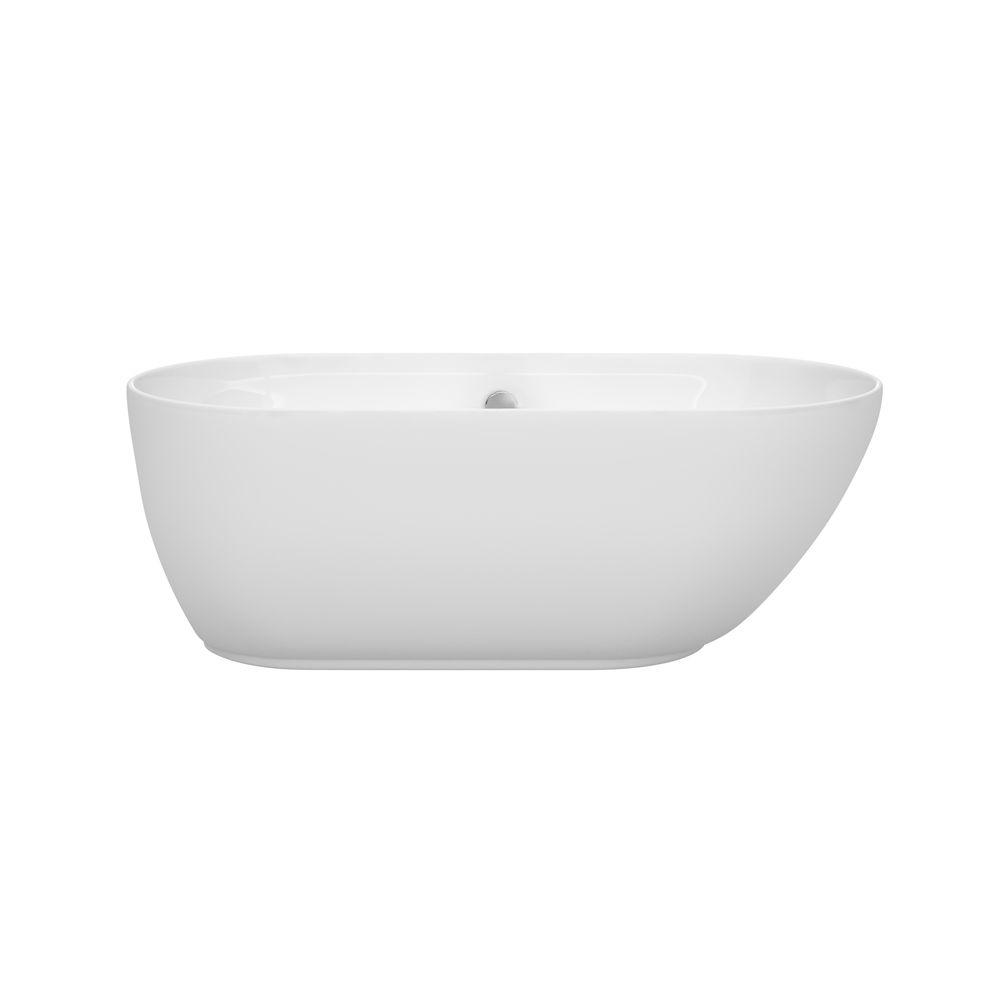 Melissa 5 ft. Center Drain Soaking Tub in White