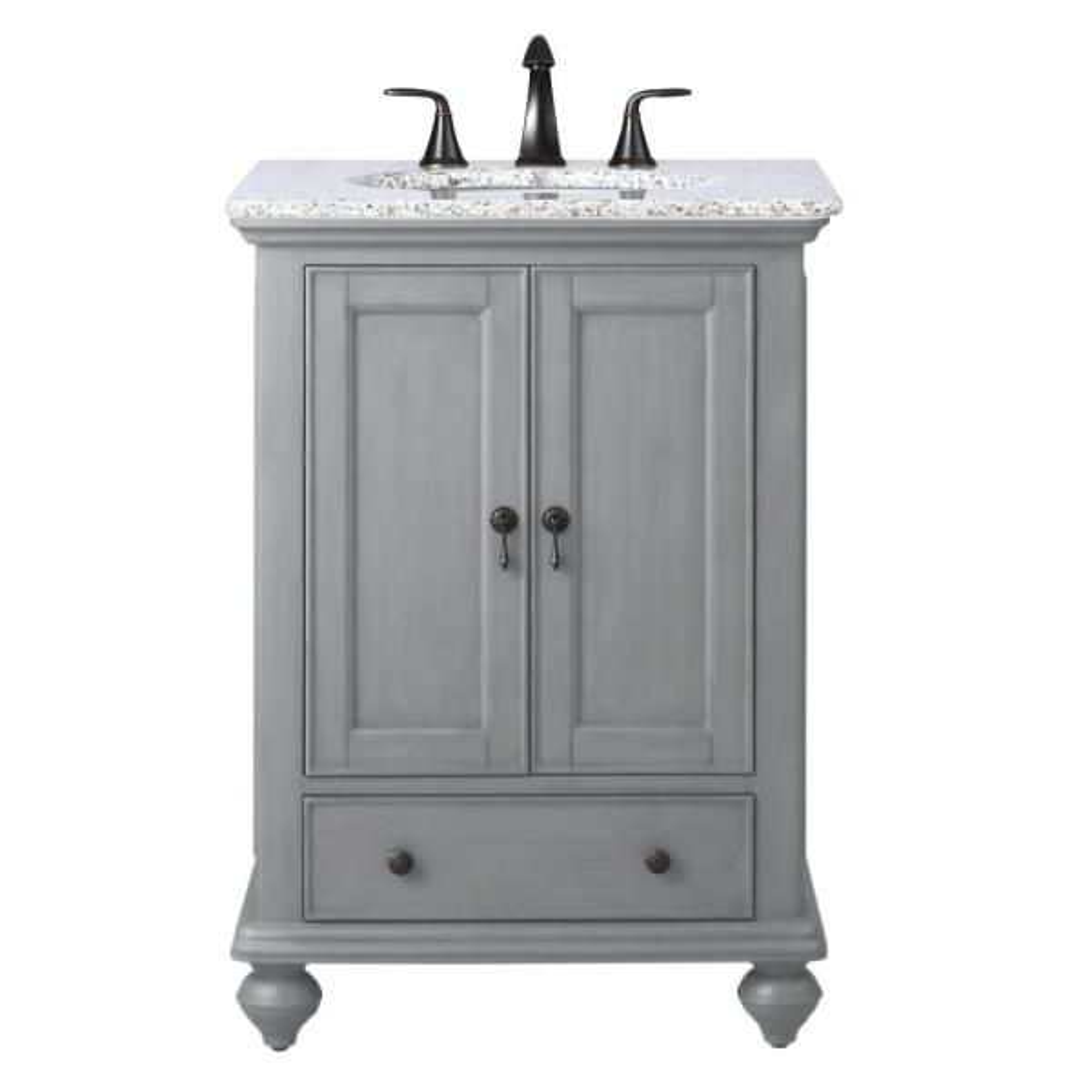 Pewter With Granite Vanity Top In Grey, Home Decorators Collection Bathroom Vanity