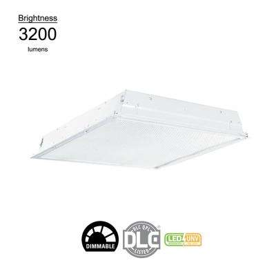2 ft. x 2 ft. White Integrated LED Drop Ceiling Troffer Light with 3200 Lumens, 3500K