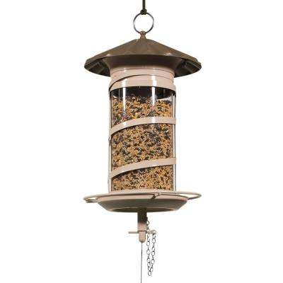 600 Series Large Barrel Mix Seed Glass Feeder in Brown/Tan