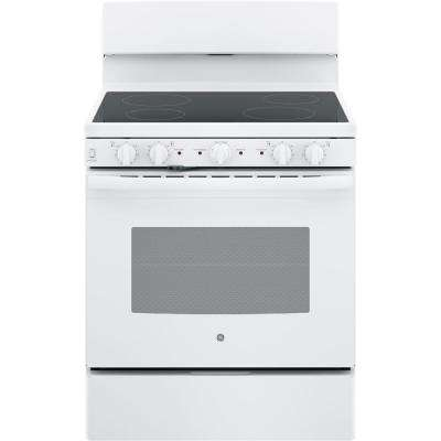 30 in. 5.0 cu. ft. Electric Range with Self-Cleaning Oven in White