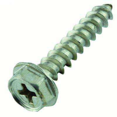 #10 x 1 in. Phillips Hex Head Stainless Steel Sheet Metal Screw (20-Pack)