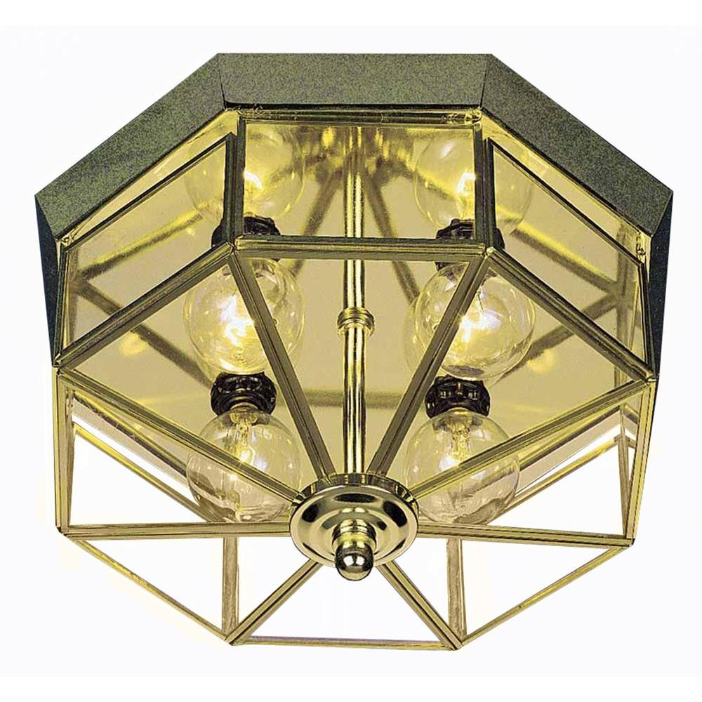 Filament Design Lenor 4-Light Polish Brass Incandescent Flush Mount