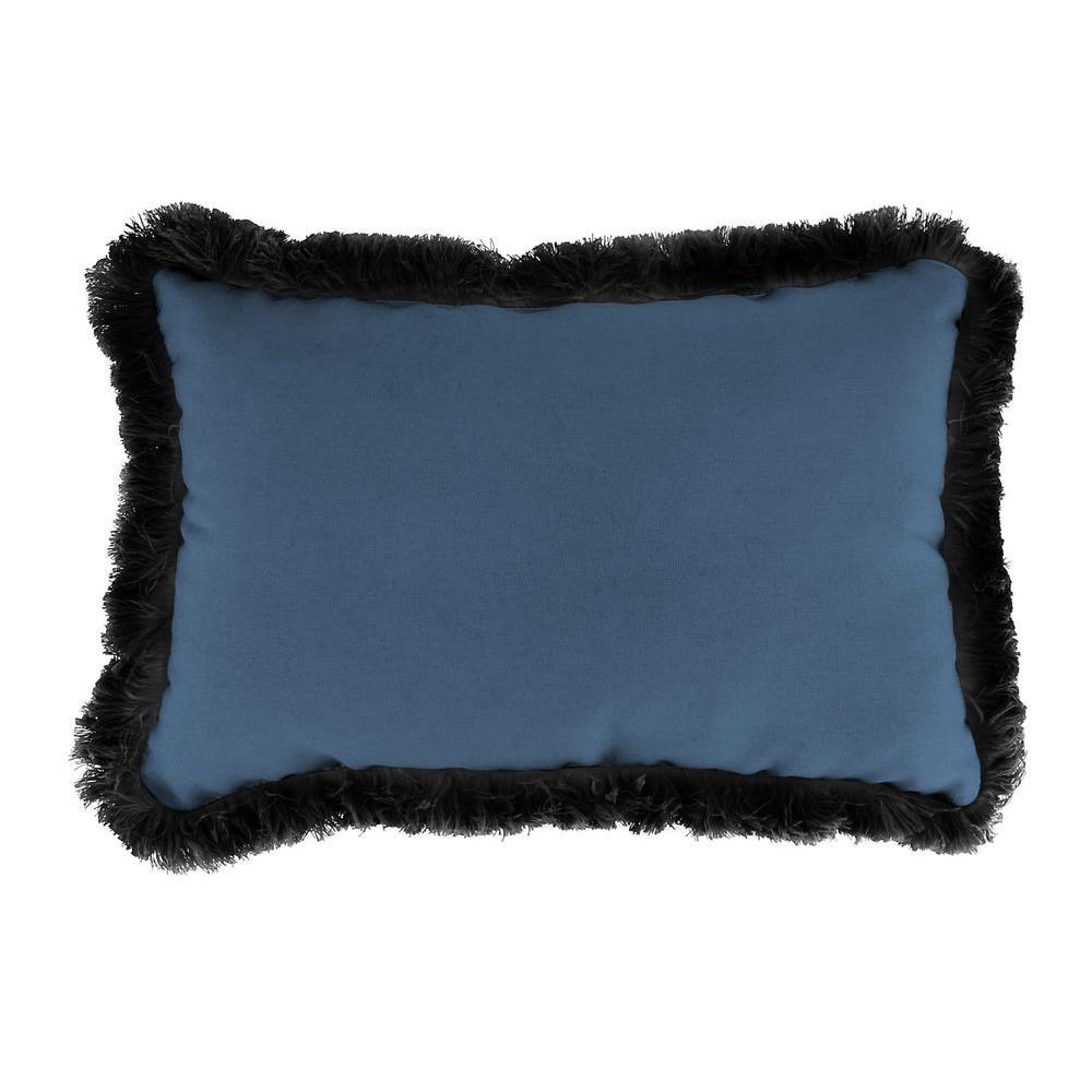 Sunbrella 19 in. x 12 in. Canvas Sapphire Blue Outdoor Throw