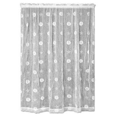 Semi Opaque Sand Dollar 45 In L Polyester Valance White