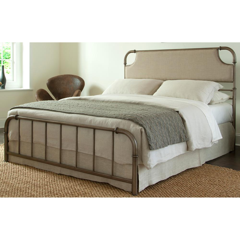 Fashion Bed Group Dahlia California King Size Snap With Upholstered Headboard And Folding Metal