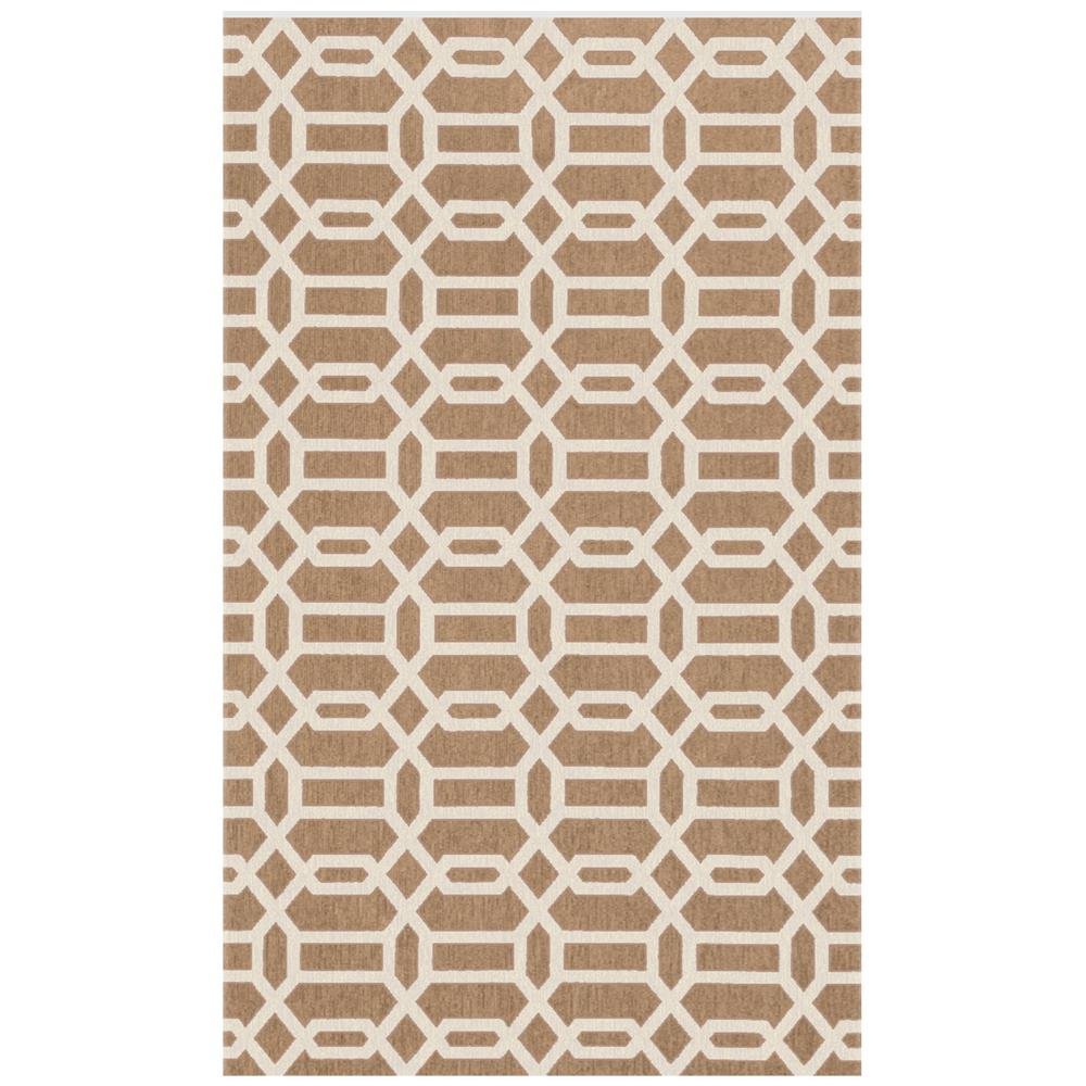 Washable Rugs Home Depot: Ruggable Washable Fretwork Rich Tan 3 Ft. X 5 Ft. Stain